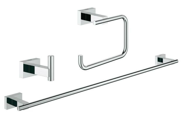 Set accesorii baie 3 in 1 Grohe Essentials Cube-40777001